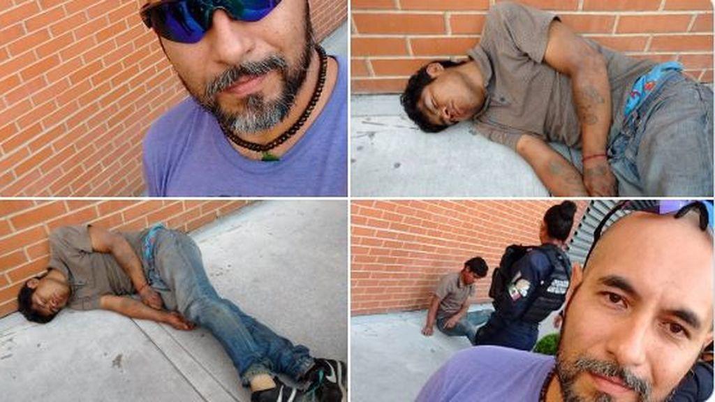 Deja KO a un ladrón que intentó robarle la bicicleta y se hace viral después de hacerse selfies con él