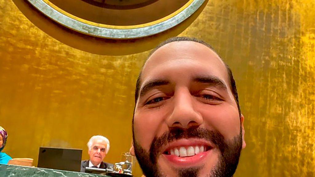 ¿Por qué el presidente salvadoreño se ha hecho un selfi durante su discurso en la ONU?