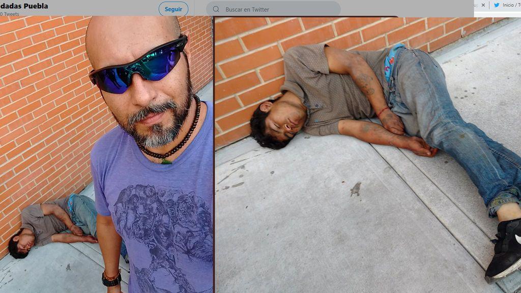 Un mensajero se hace un selfi con el ladrón al que noqueó porque quería robarle su bicicleta