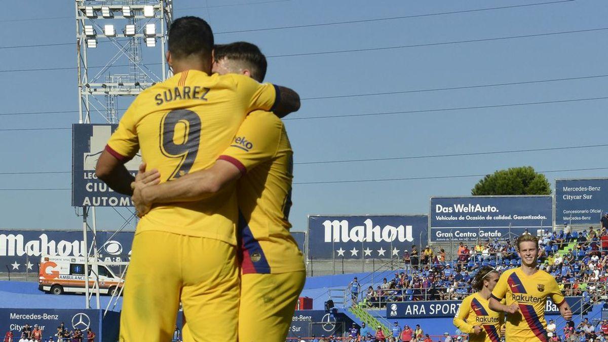 El Barcelona supera al Getafe y aprieta la zona alta de LaLiga antes del 'derbi' (0-2)