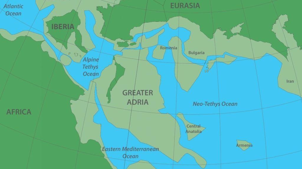 Gran Adria, el continente 'perdido' que se encuentra bajo el sur de Europa