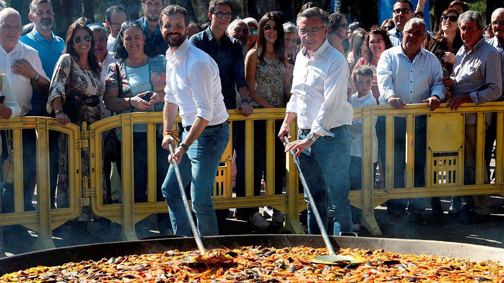 Pablo Casado en un acto de precampaña en Zaragoza