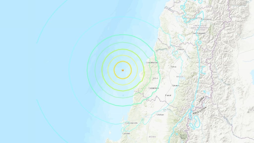 Un terremoto de magnitud 7'2 sacude Chile
