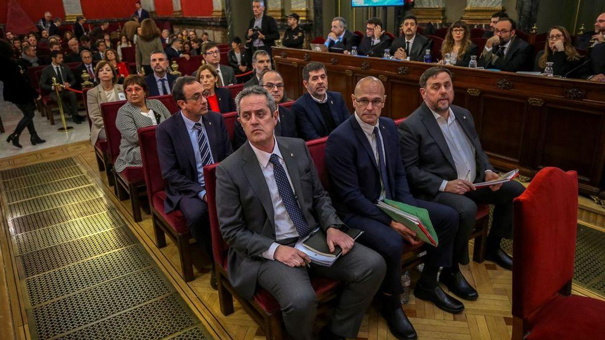 Los doce líderes independentistas acusados por el proceso soberanista catalán, ante el Tribunal Supremo