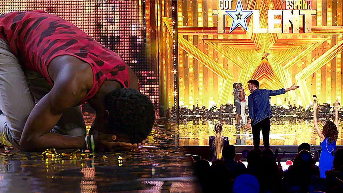El hermano de Dani Martínez da por sorpresa el pase de oro al contorsionista 'Papi flex'
