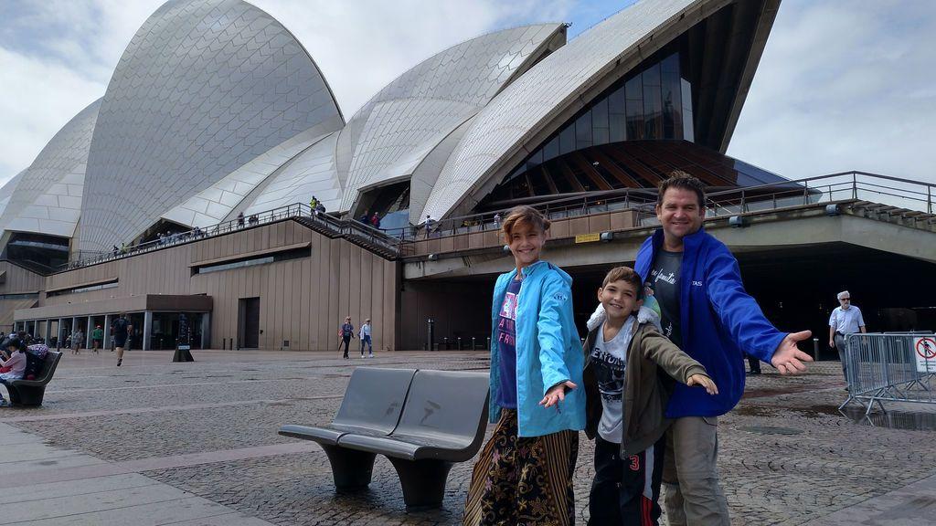 Javier, Carla y Alejandro durante su viaje