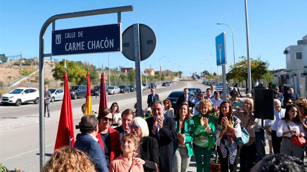 Carme Chacón ya tiene su calle en Madrid