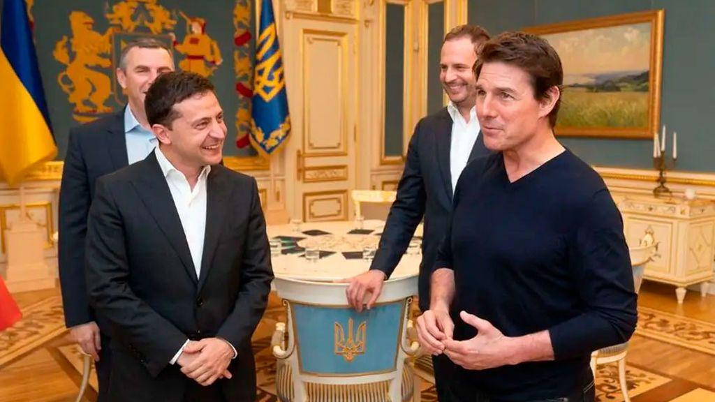 """El encuentro de Tom Cruise con el también actor presidente ucraniano: """"Eres muy guapo"""""""
