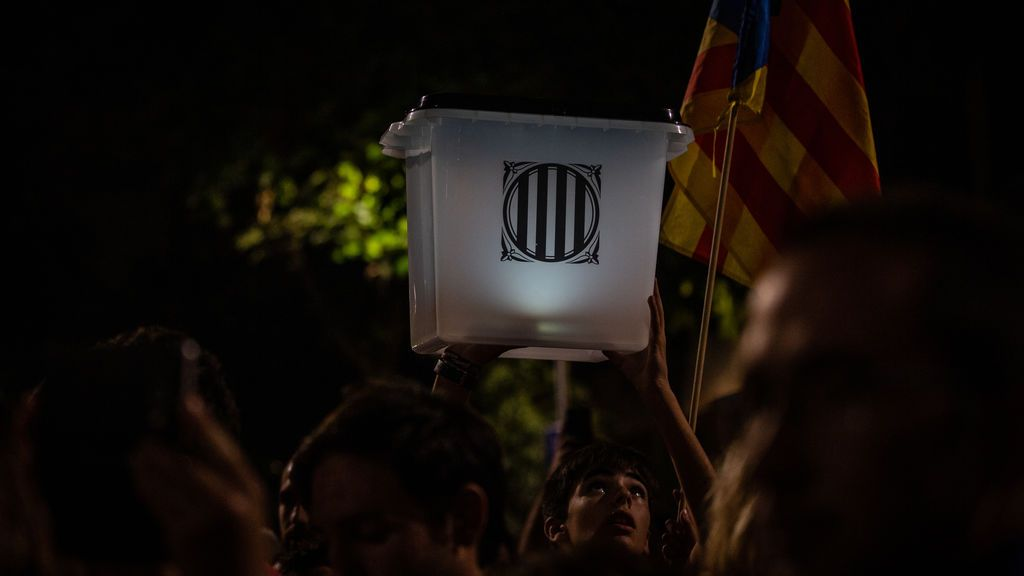 Las manifestaciones en el aniversario del referéndum del 1-O pierden adeptos