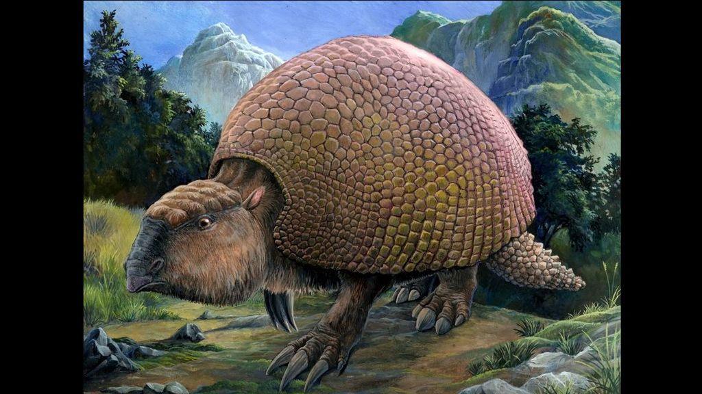 Unos jóvenes encuentran el caparazón de un gliptodonte, un mamífero que vivió hace 10.000 años