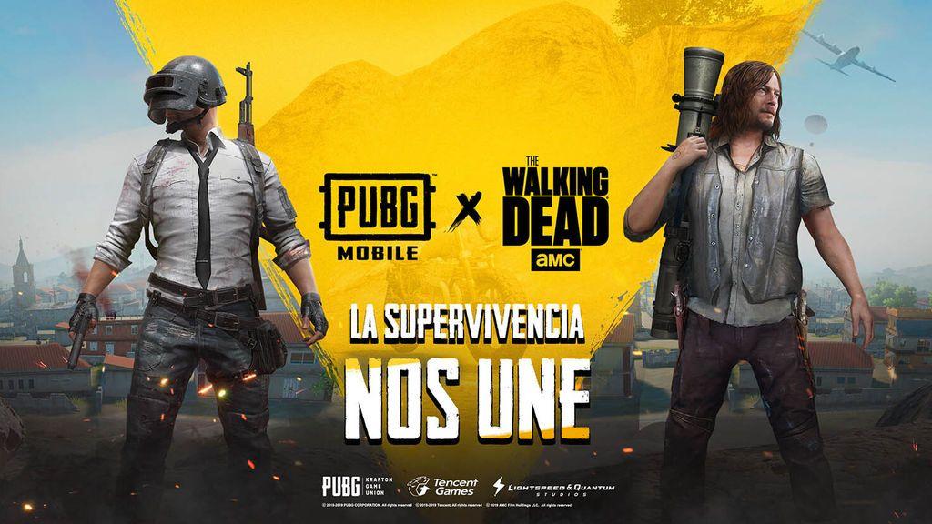 PUBG Mobile tendrá personajes de The Walking Dead