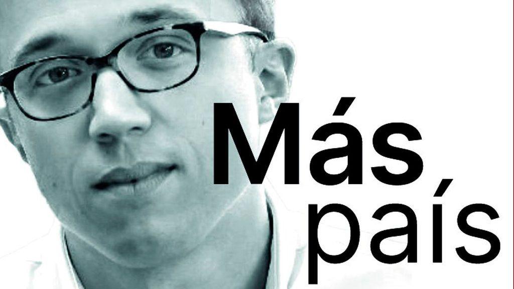 Imagen de las papeletas electorales de Más País, con la foto de Errejón