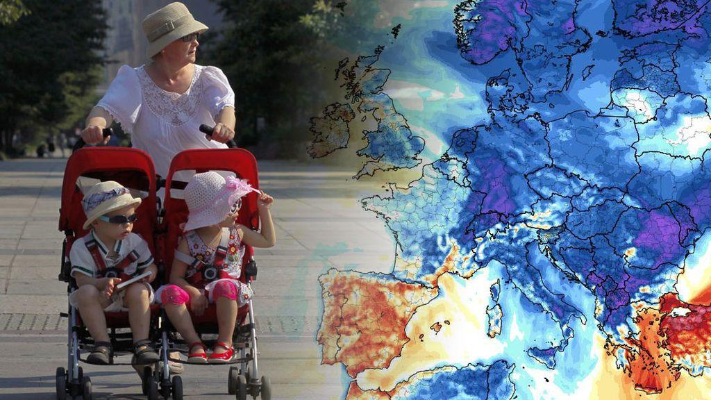 Baile de masas: toda Europa con aire frío salvo España