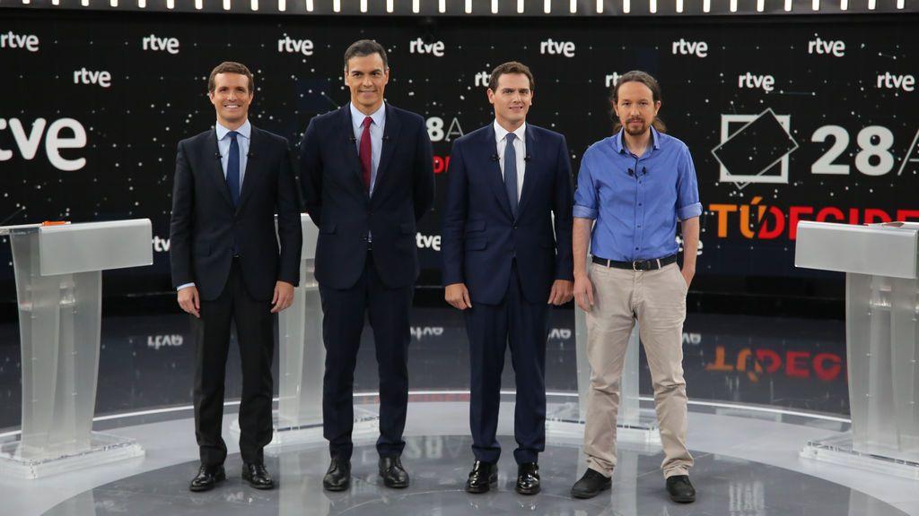 Imagen del debate electoral en RTVE en las elecciones de abril