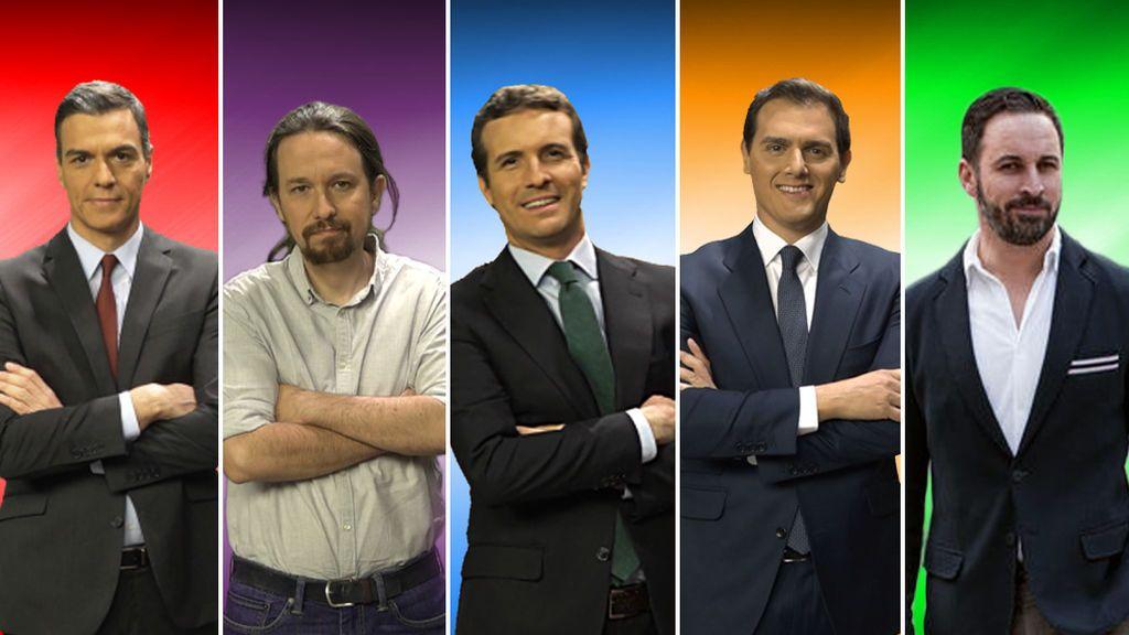 Los cinco participantes en el debate electoral de 10-N