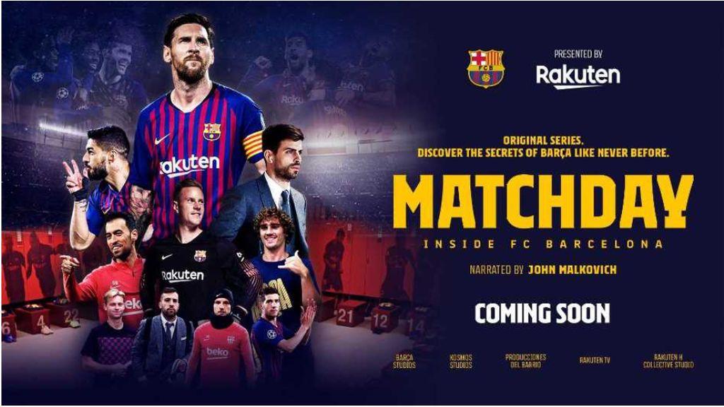 'MatchDay' es el nombre de la docuserie que estrenará el Barcelona en RakutenTV