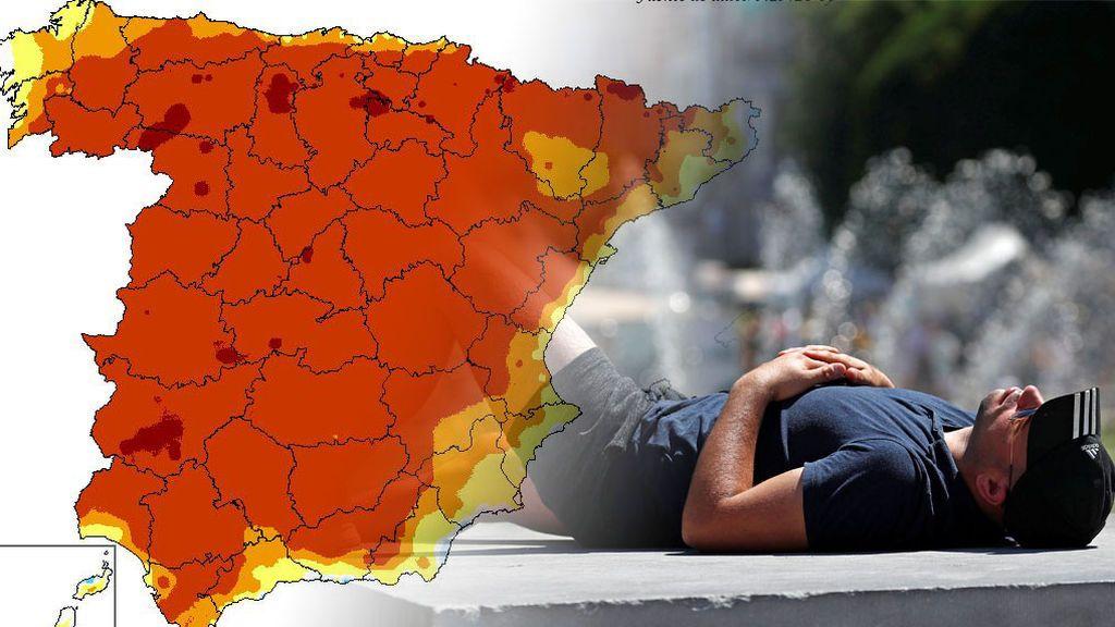 Martes a más de 35ºC: casi todo el país tendrá 10ºC más de lo normal