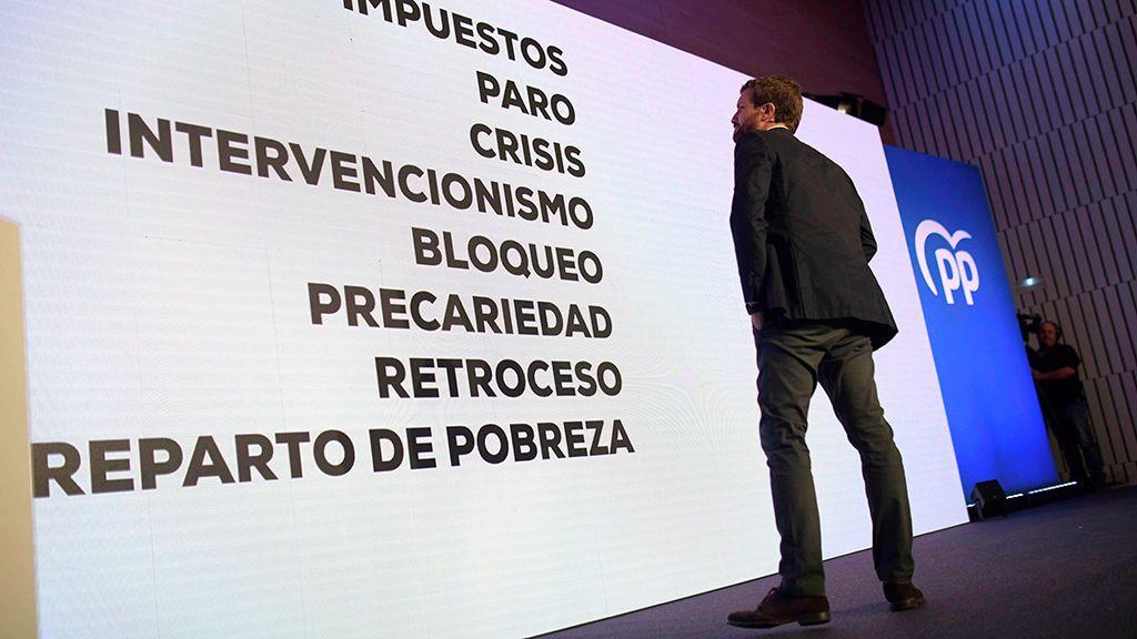 Casado alerta de que España no podría soportar otra crisis económica con el PSOE al frente del Gobierno