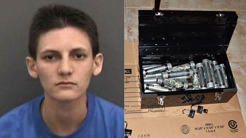 Arrestada después de que sus padres encontraran 24 bombas caseras en su habitación