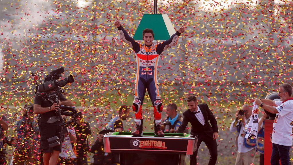 Marc Márquez consigue su octavo título de campeón del mundo tras ganar el Mundial de Moto GP