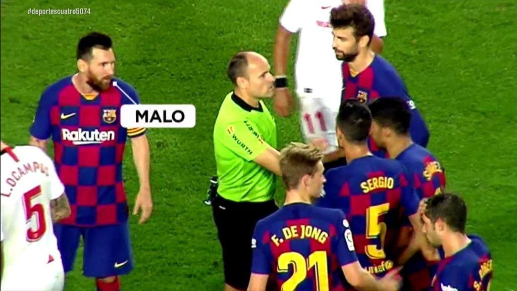 """Leo Messi también llamó """"malo"""" a Mateu Lahoz pero el árbitro no lo reflejó en el acta"""