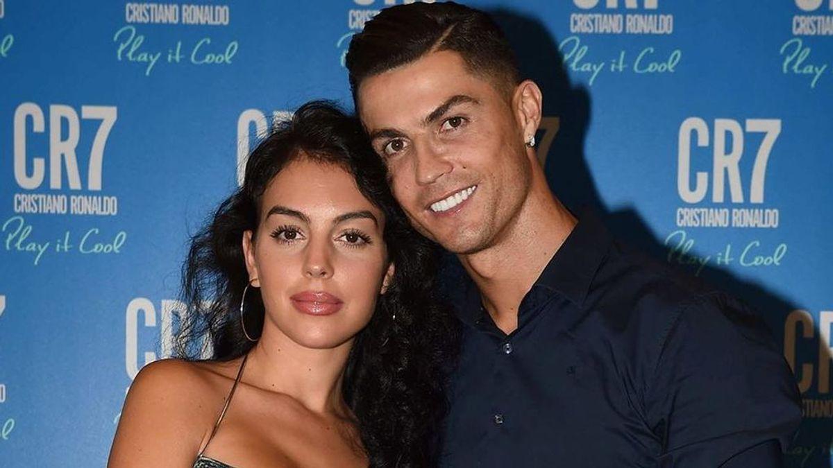 """Eva se parte de risa con el último posado familiar completo de Ronaldo y Georgina: """"No te podemos querer más"""""""