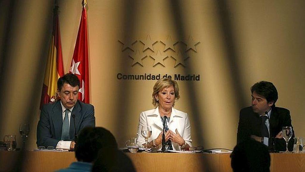 Percival Manglano con Esperanza Aguirre