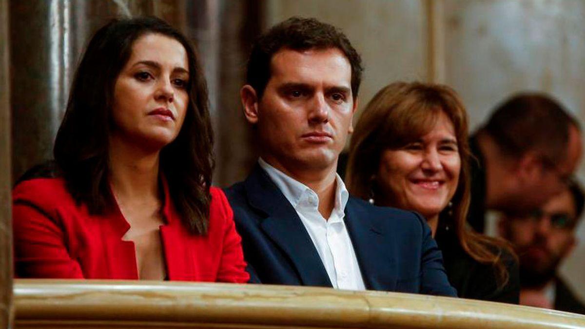 Albert Rivera e Inés Arrimadas en el Parlament