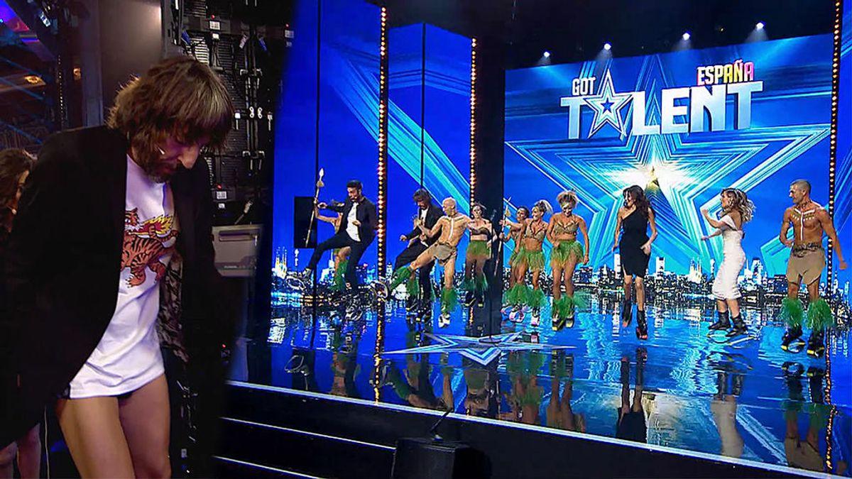 La actuación de 'KFT' acaba con Santi Millán perdiendo los pantalones en el escenario