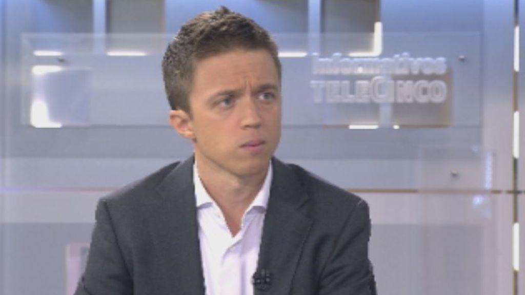 """Íñigo Errejón en Telecinco: """"Para que haya resultados diferentes hacen falta opciones diferentes"""""""
