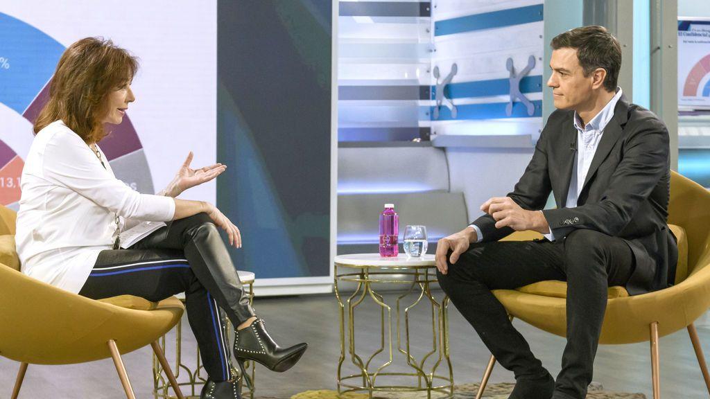 Ana Rosa Quintana entrevista mañana a Pedro Sánchez