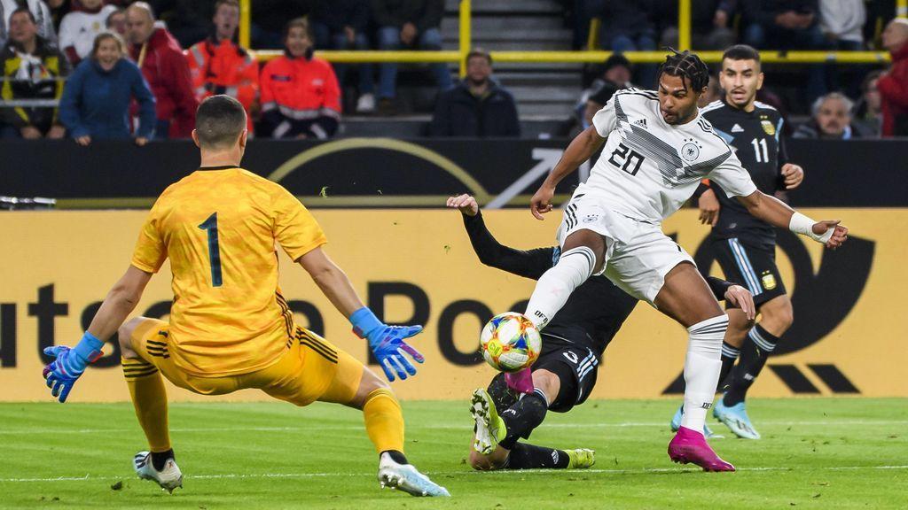 Gnabry abre el marcador ante Argentina para ampliar su fantástica racha (1-0)