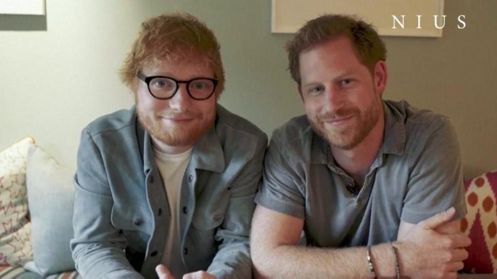 Ed Sheeran y el príncipe Harry