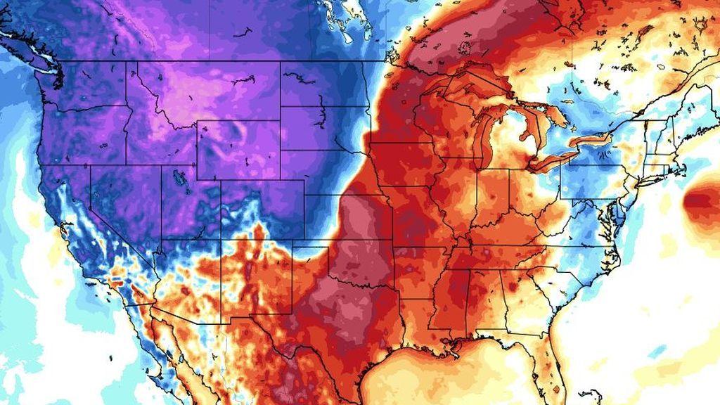 Una masa polar invade Estados Unidos: caída en picado de 25ºC en un día