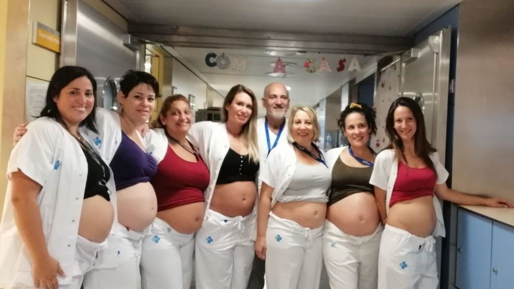 """La """"epidemia"""" del embarazo en un hospital de Barcelona: siete enfermeras embarazadas a la vez"""