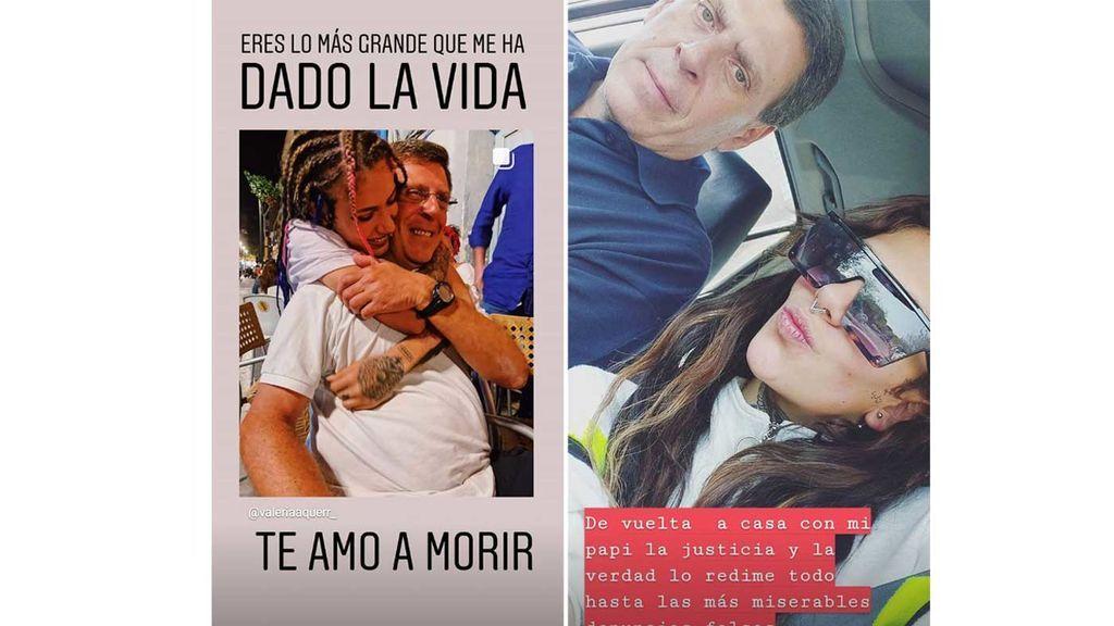 """El mensaje de apoyo de Valeria Quer a su padre: """"La justicia y la verdad lo redime todo"""""""