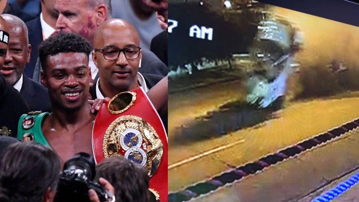Las impactantes imágenes del accidente de Errol Spence Jr: ni un hueso roto por no llevar el cinturón de seguridad puesto