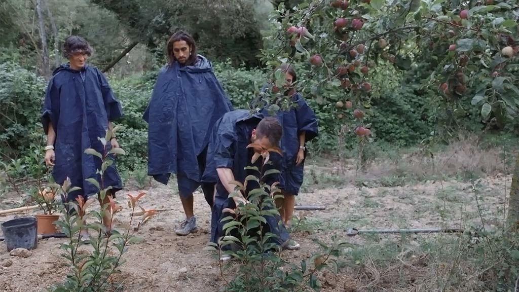 """Sandra y sus chicos inmortalizan su aventura plantando un árbol: """"Es la primera vez que cojo un pico, yo había cogido el cubata"""""""