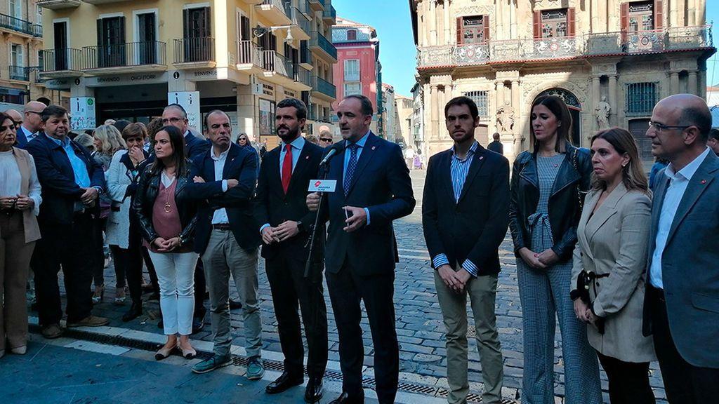 Casado condiciona el desbloqueo tras el 10-N a que Sánchez rompa con Bildu en Navarra