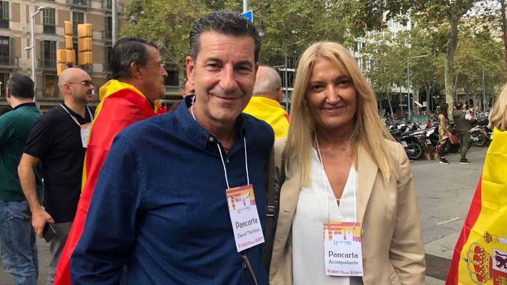 David Martínez y Laura Aliaga de la nueva entidad Foment Català
