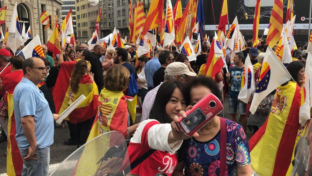 Los voces que defienden la unidad de España en la manifestación de Barcelona