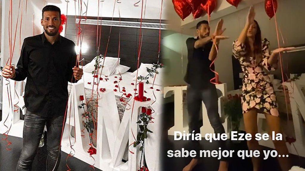 """El regalo de cumpleaños de Tamara Gorro a Ezequiel Garay: """"No solamente los hombres hacemos sorpresas con rosas y globos"""""""