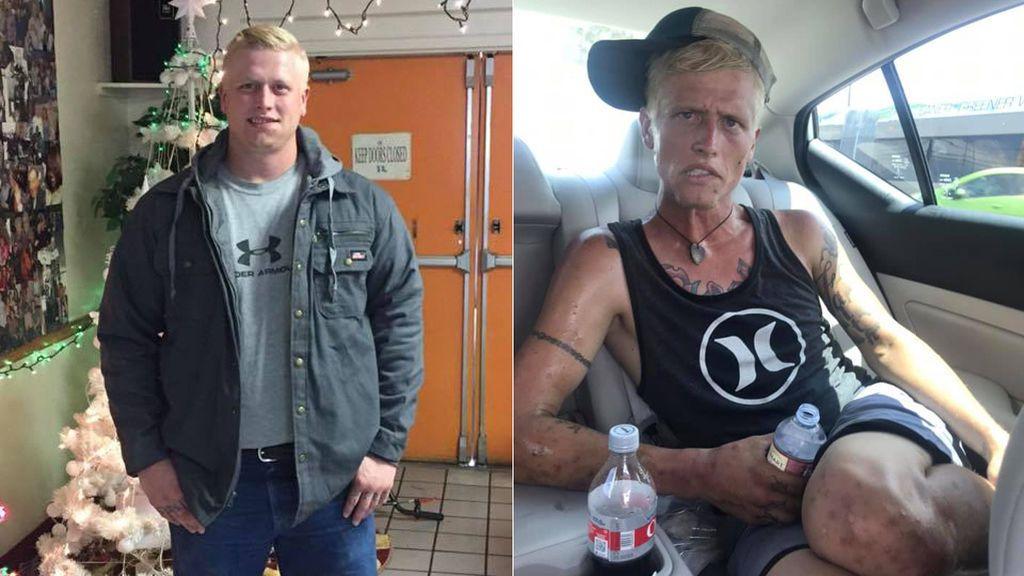 La publicación más dura para una madre: sube a Facebook dos imágenes de su hijo antes y después de consumir drogas para tratar de salvarle