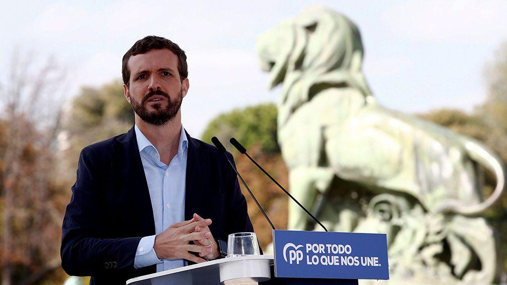 Casado califica de inaceptable la 'agenda para el desbloqueo' presentada por Sánchez