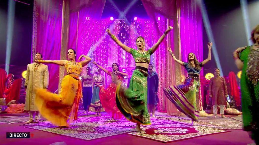 Los concursantes lo dan todo en la prueba semanal con la coreografía de Bollywood