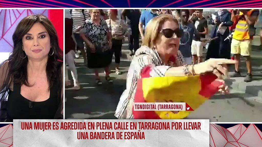 Agreden y tiran al suelo a una mujer por lucir la bandera de España en Tarragona
