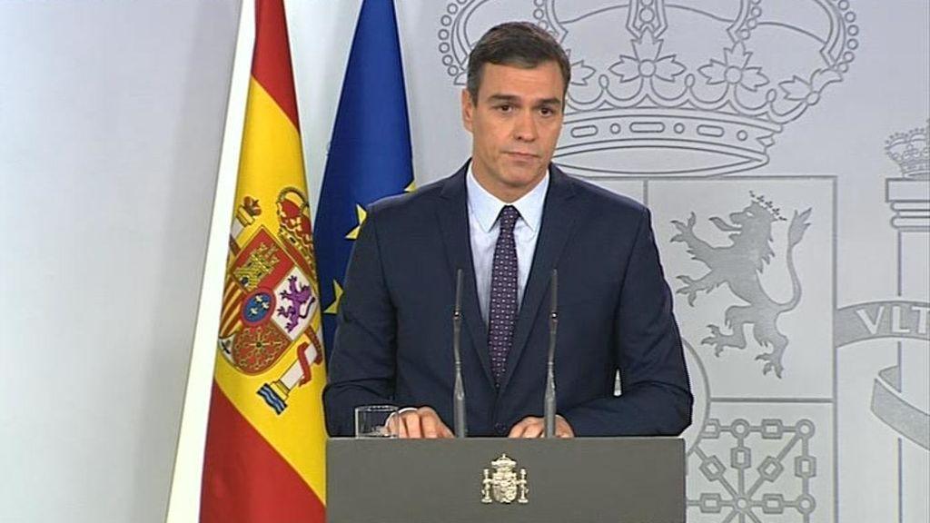 """Sánchez asegura que el Gobierno acatará la sentencia contra los políticos independentistas:  """"Su íntegro cumplimiento"""""""