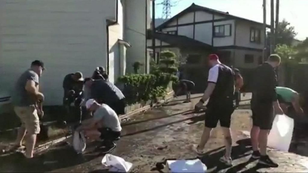 El tifón Hagibis golpea Japón