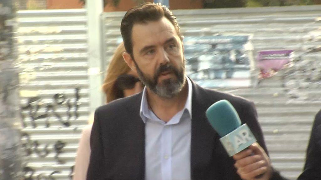 Miguel López a su llegada a los juzgados esta mañana