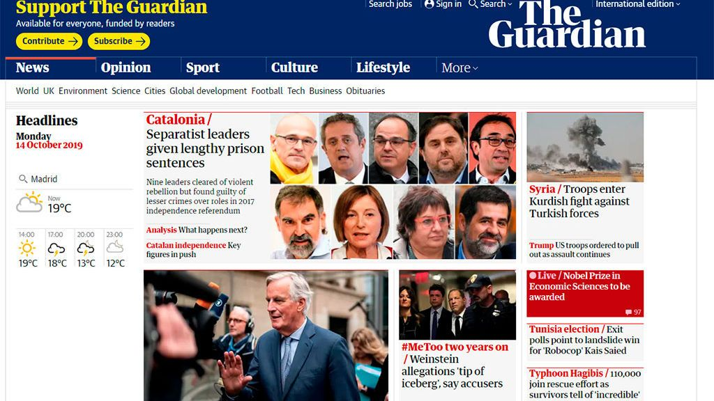 El procés en The Guardian
